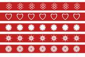 Ano novo ornamento na fita vermelha — Vetor de Stock