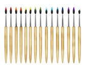 Art paint brushes — Stock Photo