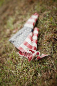Tattered American Flag — Stock Photo