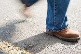 Worker walking — Stock Photo