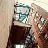 Urban fire escape — Stock Photo
