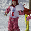 Childrens alpine skiing — Stock Photo
