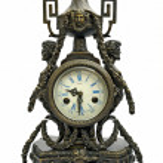 Old fashion antique clock isolated on white — Stock Photo #9937561