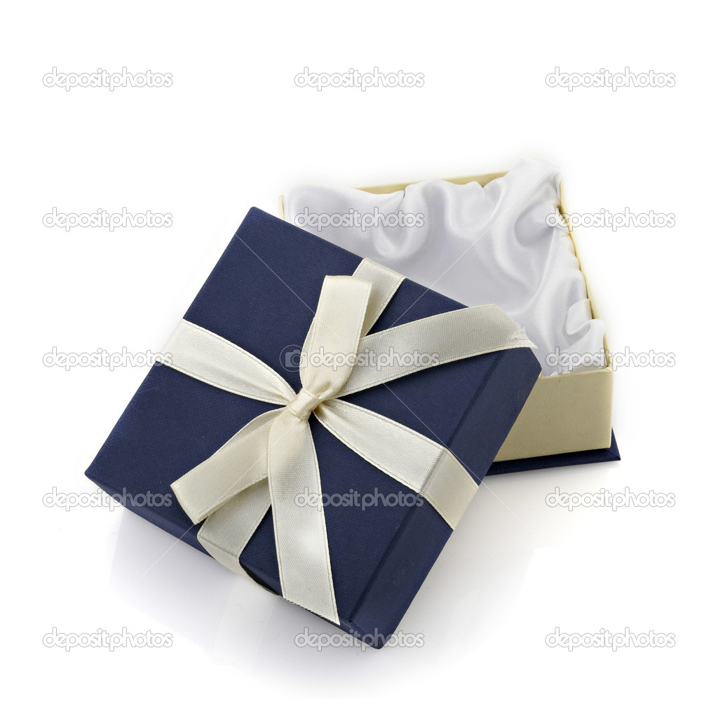 Gift box isolated on white background — Stock Photo #9937652