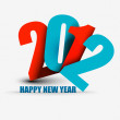 Royalty-Free Stock Vector Image: New year 2012 poster design