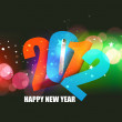 New year 2012 poster design — Stock Vector #8124387