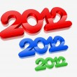 3d new year 2012 design - Stock Vector