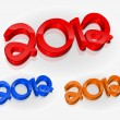 3d new year 2012 design — Vector de stock