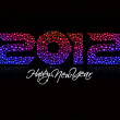 Royalty-Free Stock Imagen vectorial: New year 2012 design