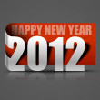 New year 2012 sticker - Stok Vektör