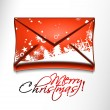 Email christmas icon — Stock Vector