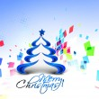 Abstract christmas tree background — Stock Vector