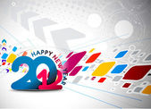 New year 2012 poster design — Stock Vector