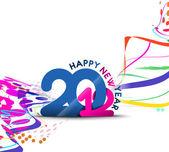 Yeni yıl 2012 poster tasarımı — Stok Vektör