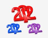 Yeni yıl 2012 3d tasarım — Stok Vektör