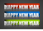 New year sticker — Stock Vector