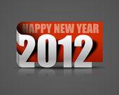 New year 2012 sticker — Stock Vector