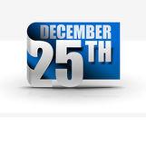 Diseño de la etiqueta engomada de 25 de diciembre — Vector de stock