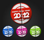 New year 2012 background — Stock Vector
