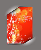 Greetings card for xmas — Stock Vector