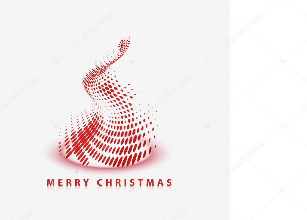 Modern abstract christmas tree background, eps10 vector illustration  Stock Vector #8124971