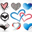 Collection heart vector design — Stock Vector
