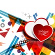 Hearts design illustration - Image vectorielle