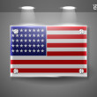 USA flag — Stock Vector #8618553