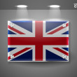 united kingdom uk flag — Stock Vector