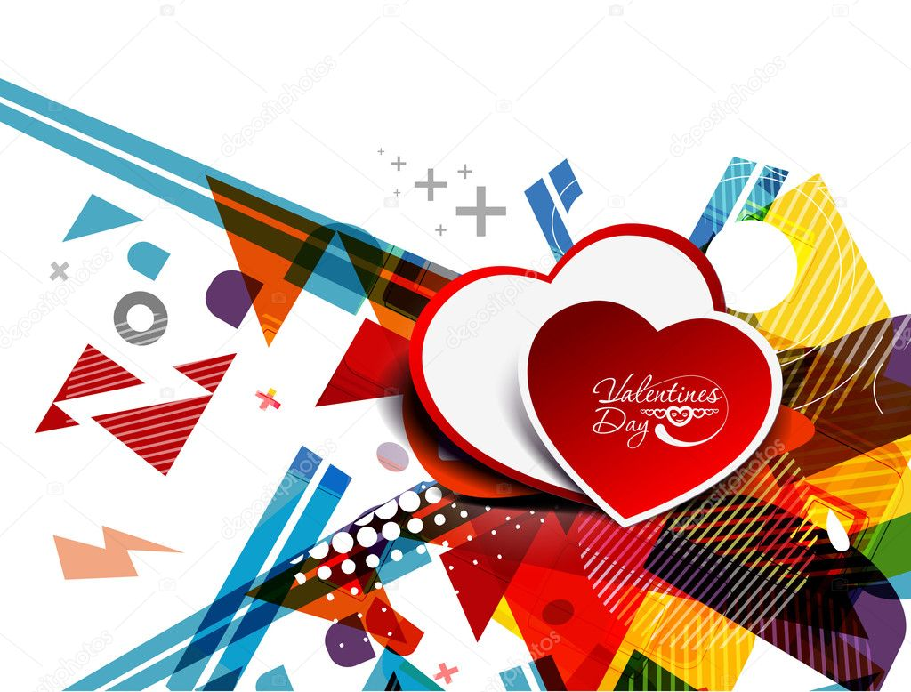Abstract background with hearts design illustration. — Stock Vector #8618459