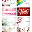 Royalty-Free Stock Vector Image: Set of beautiful gift card