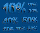 Sale percents icon design — Stock Vector