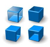 Set of 3d cube — Stock Vector