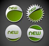 Diseño de anuncio etiquetas etiquetas engomadas — Vector de stock