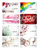 Set of beautiful gift card — Stock Vector