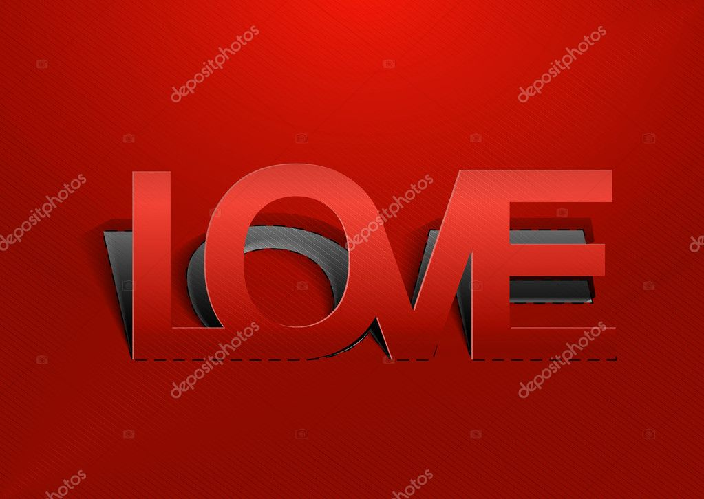 Paper cut love, valentine's day love design — Stock Vector #8843239