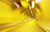 Interior of an urban tunnel without traffic — Stock Photo