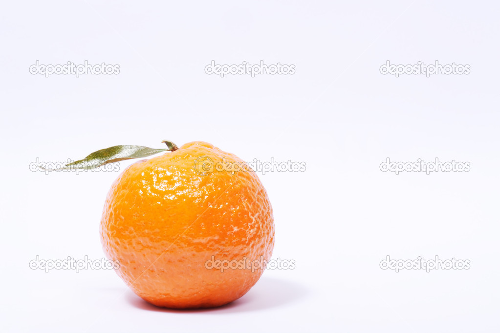 Fresh tangerine isolated over gradient white background — Stock Photo #8760742