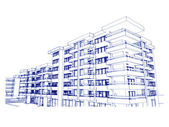 Sketch idea, drawing of building — Stock Photo