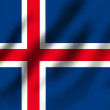 Flag if Iceland — Stock Photo