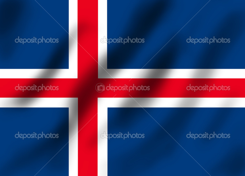 Flag if Iceland, illustration  Stock Photo #9903447