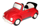 Childrens toy car, a piggy bank. — Stock Photo