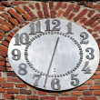 Old wall and clock — Stock Photo