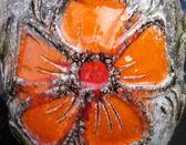 セラミックの表面、花 — ストック写真