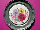 Floral plate — Stock Photo