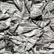 Stock Photo: Creasy newspaper