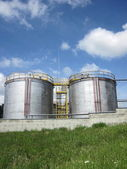 Steel tanks — Stockfoto