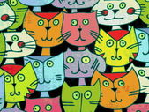 Colorful cats — Stock Photo