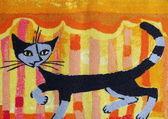 Cat carpet — Stock Photo