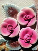 Ceramics flowers — Stock Photo